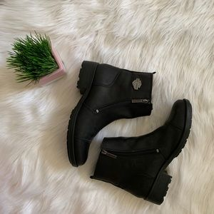 Harley Davidson Leather Ankle Boots